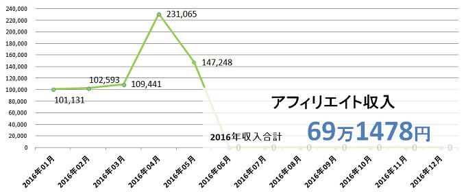 2016年5月収入